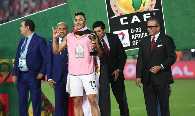 مصطفى محمد نجم المنتخب الأوليمبي