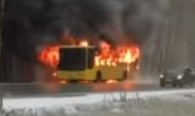 حريق اتوبيس