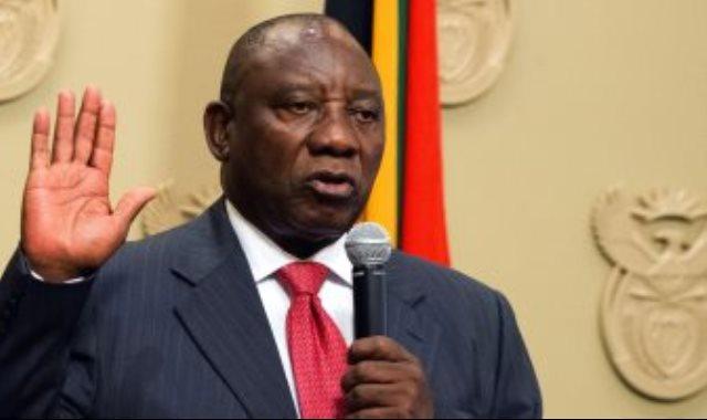 رئيس جنوب افريقيا سيريل رامافوزا
