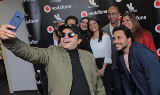 الفنان محمد هنيدي وفودافون