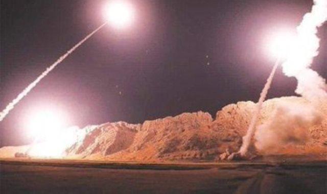 الصواريخ الايرانية فى اتجاهها للأهداف الأمريكية