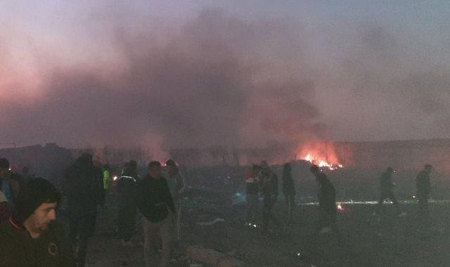 أثار تحطم طائرة أوكرانية تحمل 180 راكبا فى إيران