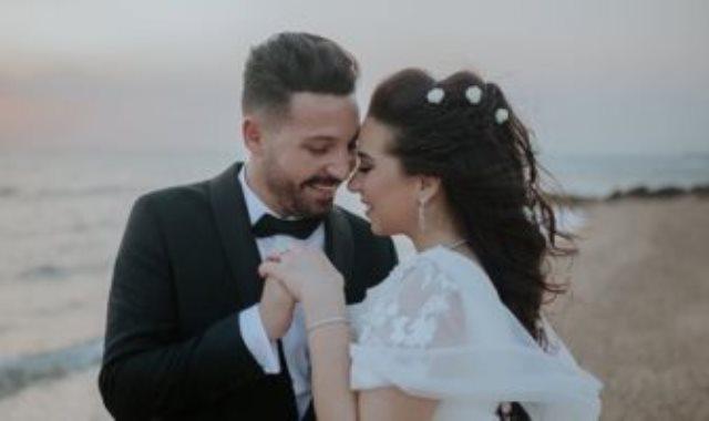 اسما شريف منير وزوجها محمود حجازى