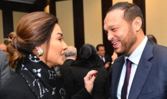 رجل الأعمال محمد حلاوة والإعلامية بسمة وهبي
