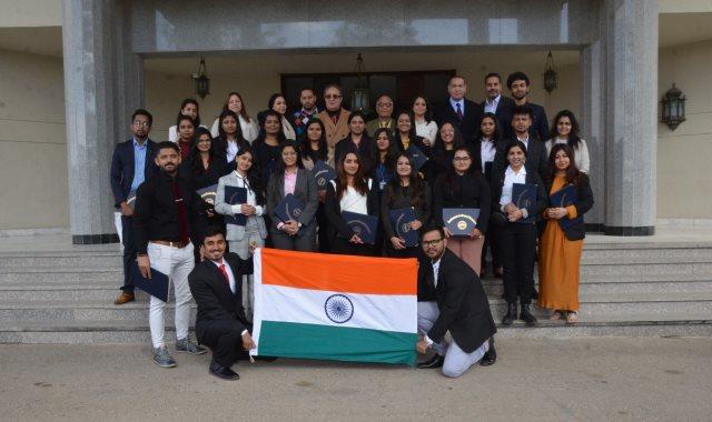 تدريب 22 طالبا هنديا بجامعة مصر للعلوم والتكنولوجيا