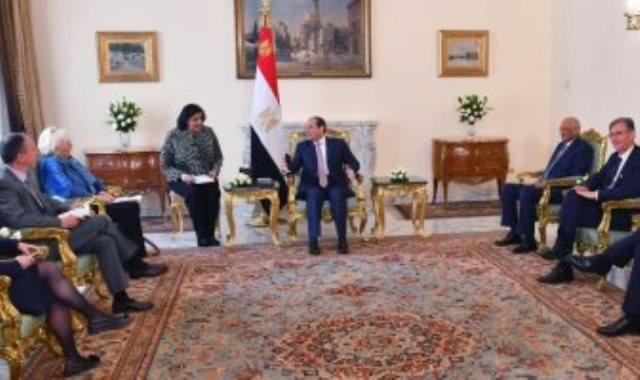 السيسى يستقبل وفد مجموعة الصداقة الفرنسية المصرية بمجلس الشيوخ الفرنسي