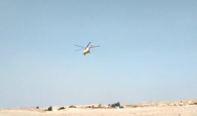 المروحية تنطلق بالجثمان إلى مثواة الأخير