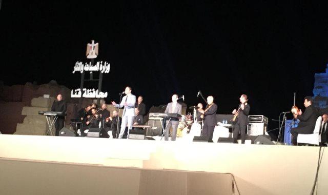 حفل مدحت صالح فى مهرجان دندرة