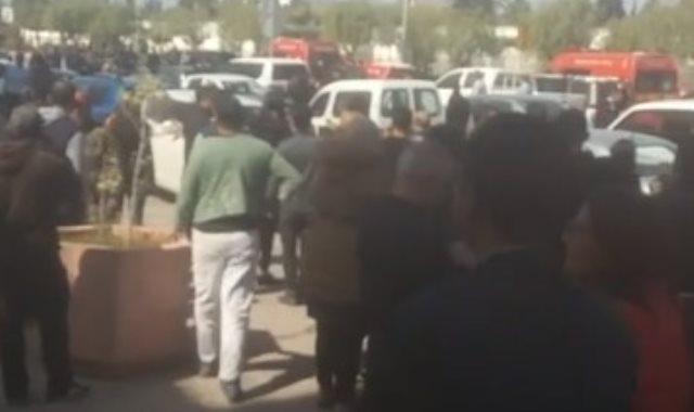 ارهابي يفجر نفسه قرب السفارة الامريكية في العاصمة التونسية