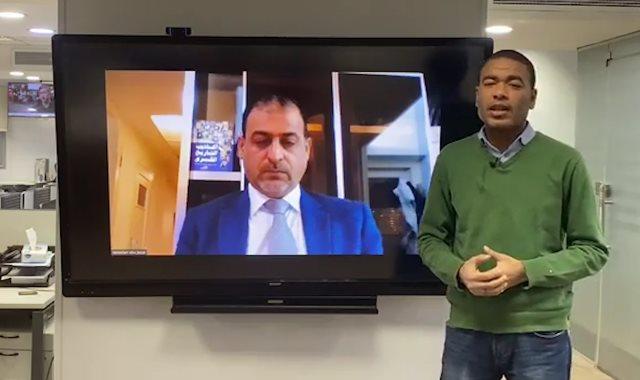 الدكتور رمضان أبو جزر مدير مركز بروكسل الدولي للبحوث يتحدث لليوم السابع
