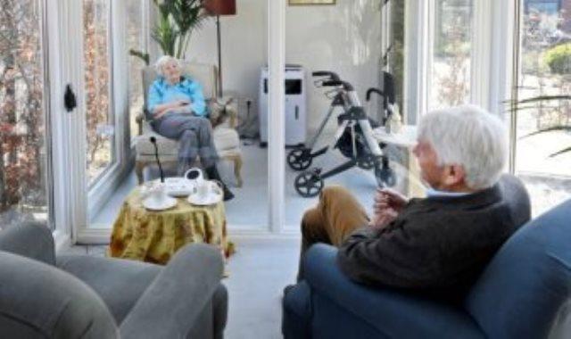 كبائن زجاجية للمسنين فى هولندا