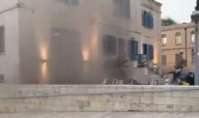 حريق فى مبنى تابع للبلدية بالقدس