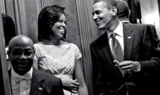 ويلسون جيرمان بصحبة أوباما وزوجته