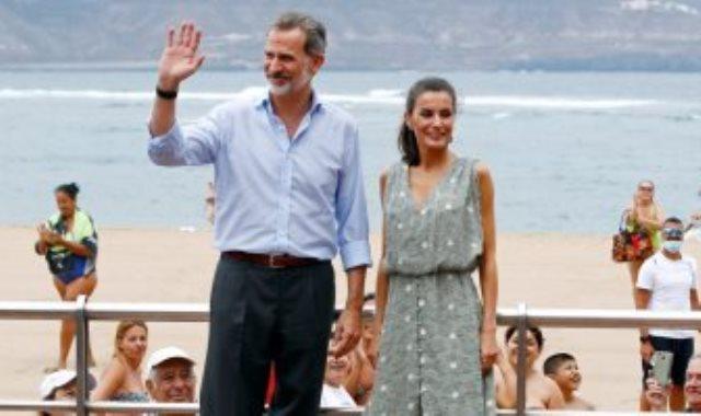 ملكة إسبانيا وزوجها