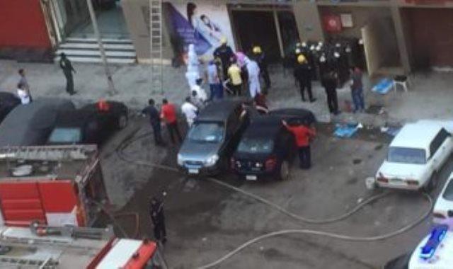 حريق مستشفى بالإسكندرية