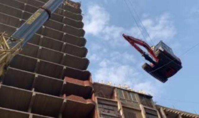 إزالة أطول برج مخالف بالقاهرة