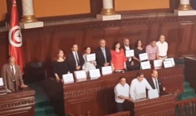اعتصام أعضاء بالبرلمان التونسى