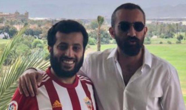المستشار ترك آل الشيخ مع محمد العاصى