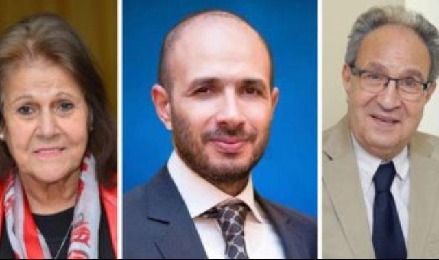 خالد الطوخي والدكتور محمد العزازى والدكتورة فوزية أبو الفتوح