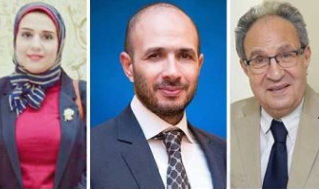 الدكتور محمد العزازى وخالد الطوخى والدكتورة نجلاء محمود عواض