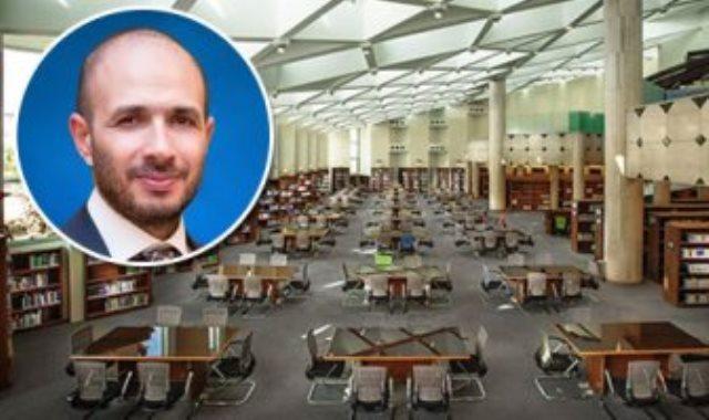 خالد الطوخى ومكتبة جامعة مصر للعلوم والتكنولوجيا