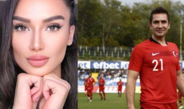 اللاعب التركى إيمره أشيك وزوجته يجمور أشيك