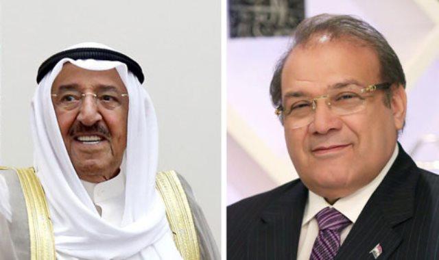 الشيح صباح الأحمد والدكتور حسن راتب