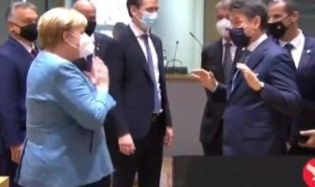 ميركل ورئيس وزراء ايطاليا