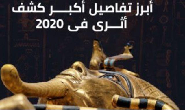 تفاصيل أكبر كشف أثرى بسقارة فى 2020