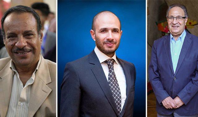 د. محمد العزازي وخالد الطوخى و الدكتور هاني حرب