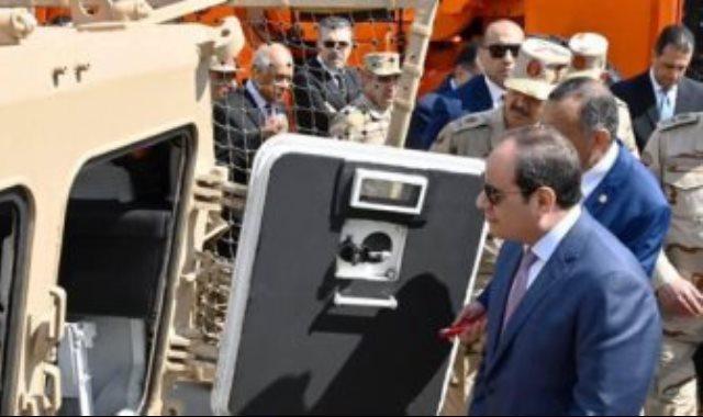 افتتاح الرئيس عبد الفتاح السيسي لشركة أبو زعبل للصناعات المتخصصة