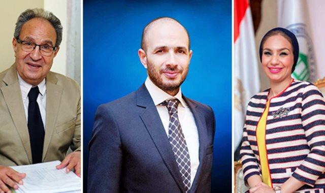الدكتور خالد الطوخى والدكتورة محمد العزازى والدكتورة ياسمين الكاشف