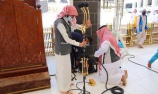تعقيم مكبرية المسجد الحرام
