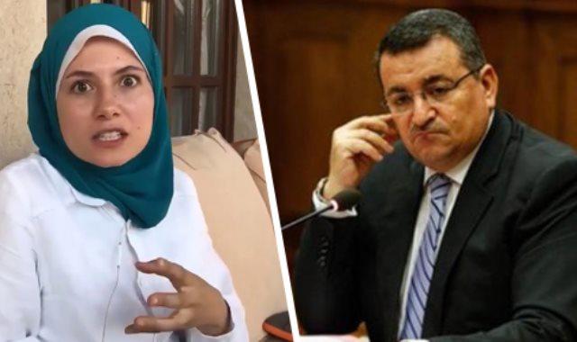 أسامة هيكل وبسنت نور الدين