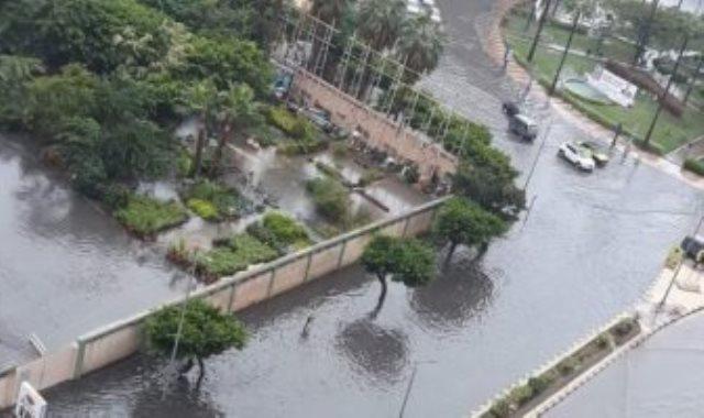 ارتفاع فى منسوب المياه وغرق بعض المناطق