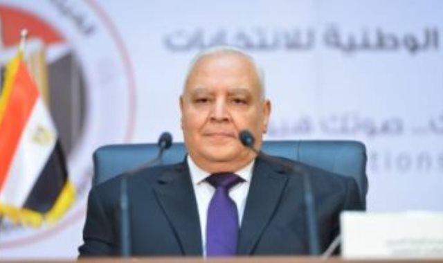 المستشار لاشين إبراهيم رئيس الوطنية للانتخابات - أرشيفية