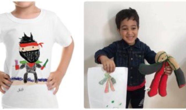 طفل يحول رسمته لدمية وتيشيرت من رسمة أخرى