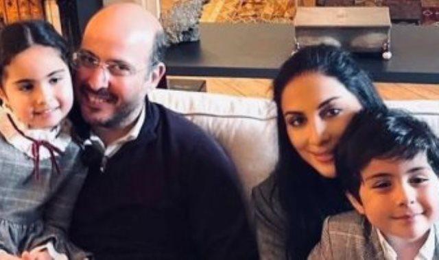 الأمير محمد على مع زوجته وأبنائه