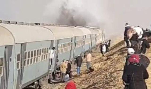 حريق قطار السويس