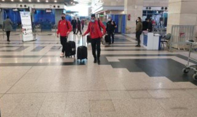 بعثة المنتخب الوطنى في مطار القاهرة