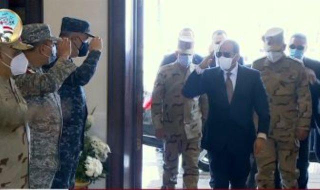 الرئيس عبد الفتاح السيسى يصل مقر انعقاد الندوة التثقيفية للقوات المسلحة