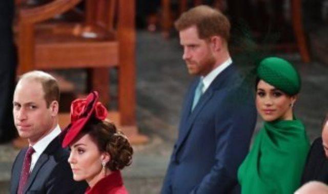 الأمير وليام وكيت ميدلتون وهارى وميجان ماركل