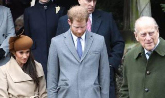 الأمير فيليب الراحل والأمير هارى وميجان ماركل