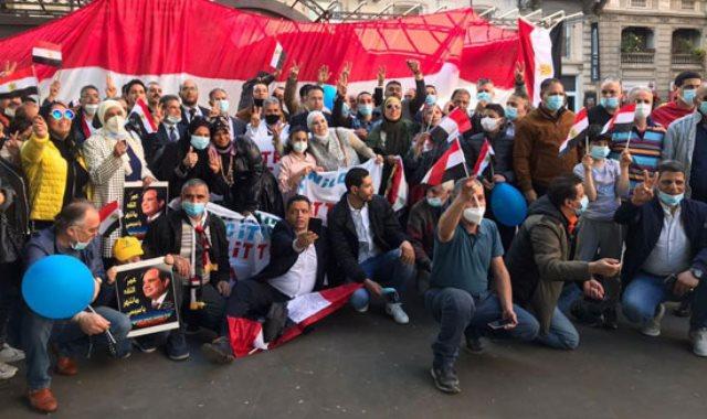 الجالية المصرية فى إيطاليا تنظم وقفة لدعم مصر فى قضية سد النهضة