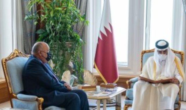 وزير الخارجية يسلم أمير قطر رسالة الرئيس السيسي