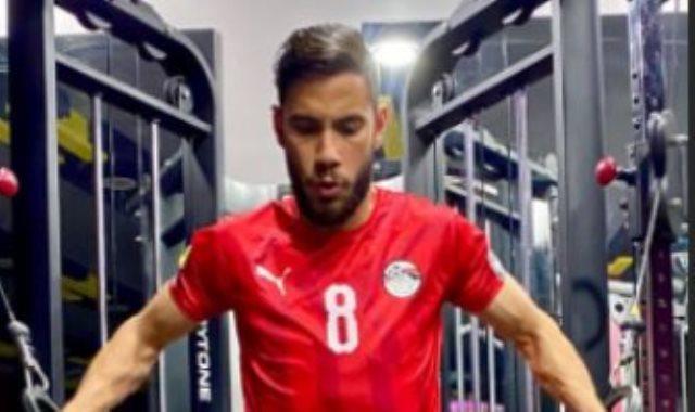 ناصر ماهر لاعب منتخب مصر الاوليمبي