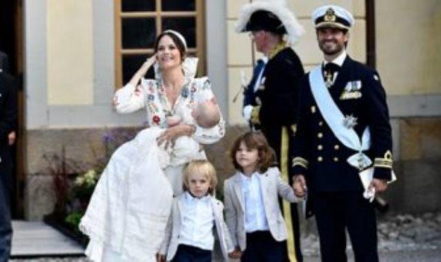 الأميرة صوفيا وزوجها الأمير كارل فيليب وأطفالهما