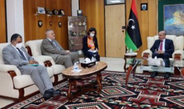 عضو المجلس الرئاسي الليبى عبد الله اللافى يلتقى كوبيش