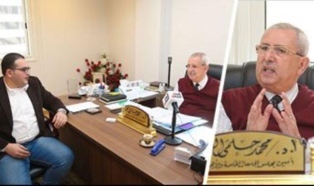 الدكتور محمد حلمى الغر أمين مجلس الجامعات الخاصة