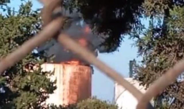 حريق خزان الزهرانى فى لبنان
